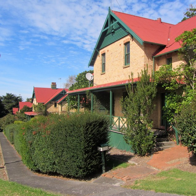 Four historic Workers' cottages. Constructed 1910