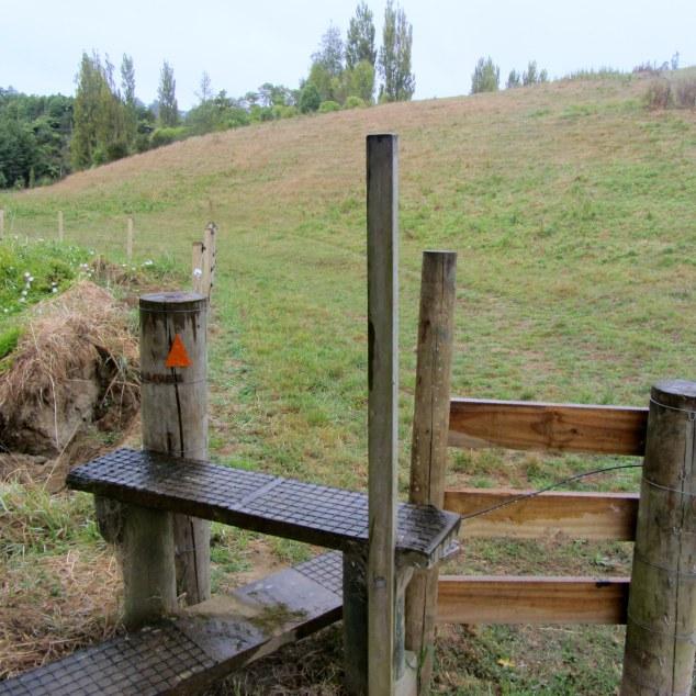 Follow the orange markers across private farmland