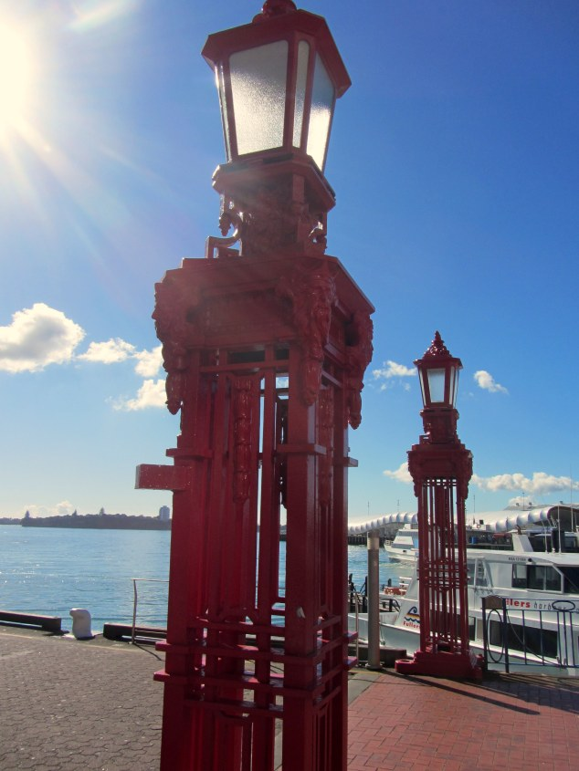The cast iron lamp stands were erected in 1923, Princes Wharf.