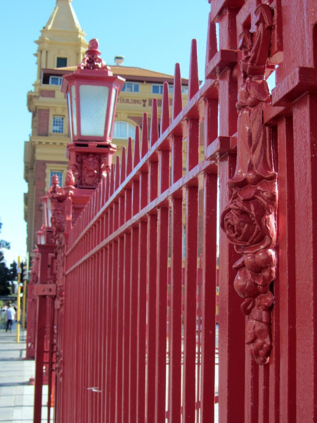 Queens Wharf Gates and Red Fence