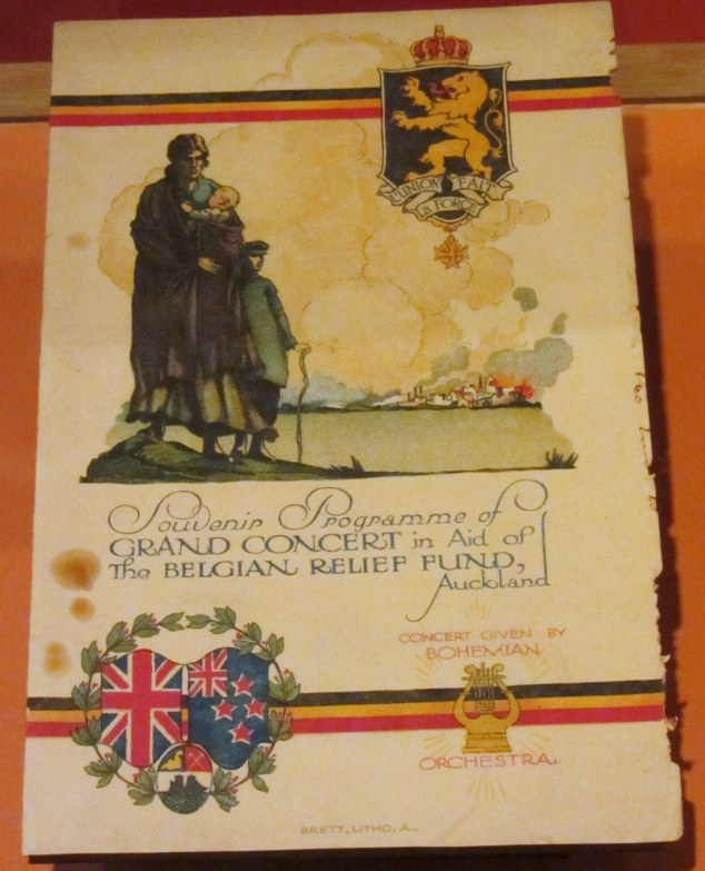 Souvenir programme for Grand Concert held in aid of the Belgian Relief Fund, 17 November 1914