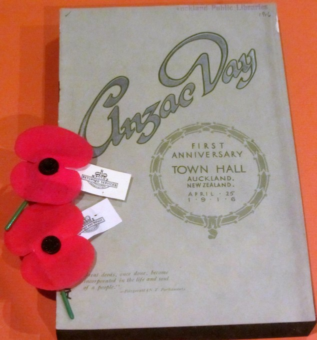 Anzac Day first anniversary programme, 25 April 1916