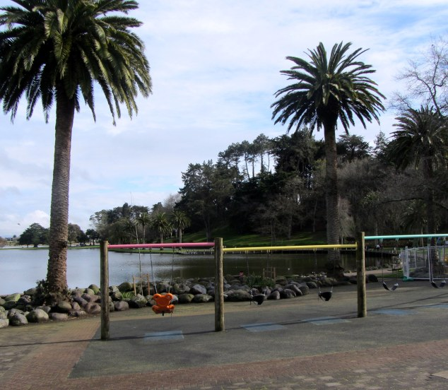 Swings by the lake