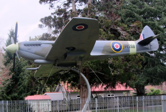 Life-size replica of Spitfire  Mk XVI