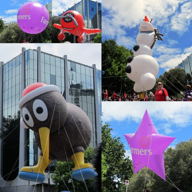 Helium balloons at the Santa Parade