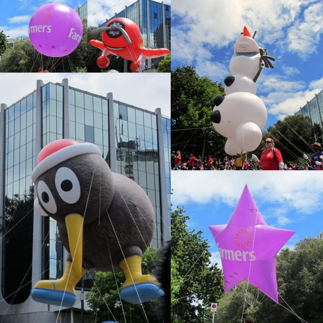 Helium balloons at the Santa Parade