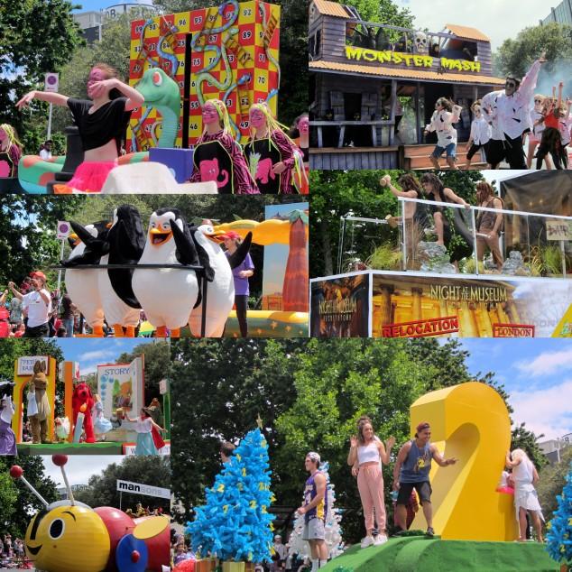 Santa Parade floats