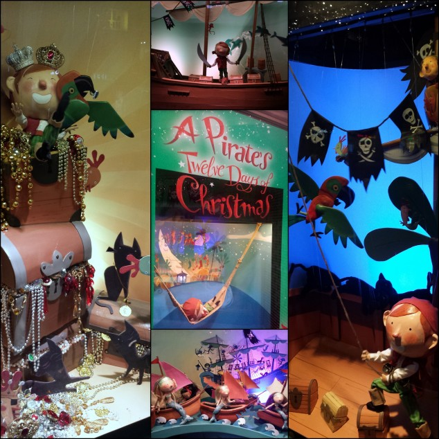 Smith & Caughey's Christmas window display