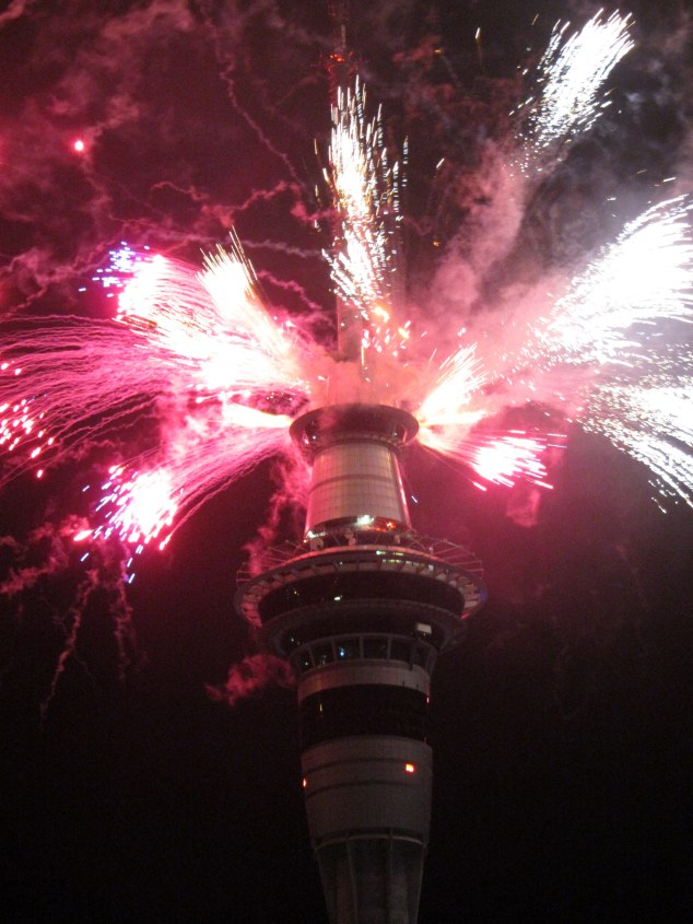 New Year Fireworks - SKY Tower