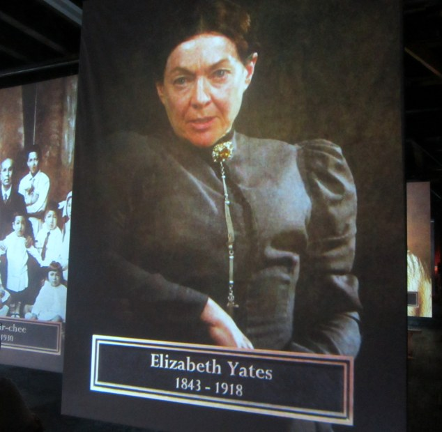 Screen and stage actress Elizabeth Hawthorne portrays Elizabeth Yates in Portrait Gallery