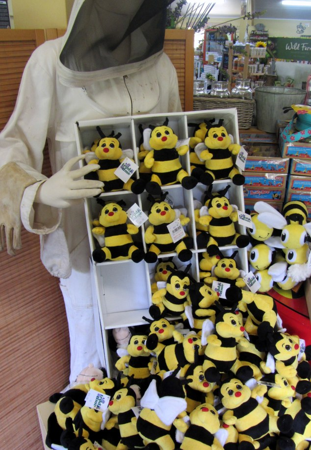 Bee soft toy display
