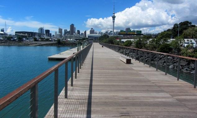 Walking back along Westhaven Promenade