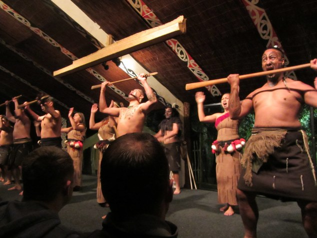 Cultural performance at Tamaki Māori Village