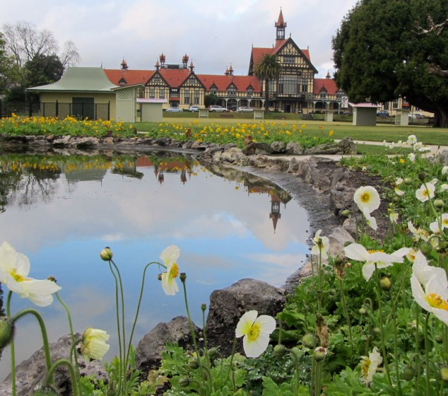Ornamental pond and garden