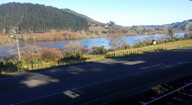 View of Waikato River, just past the township of Taupiri