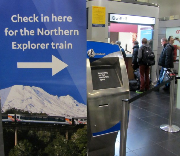 Check in at the Kiwi Rail Scenic counter, Britomart Transport Centre