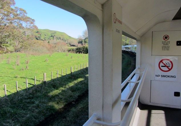 View from outdoor viewing car