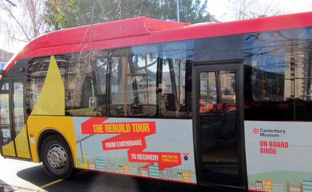 The Rebuild Tour bus
