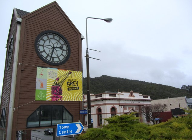 Clock tower and Bank of New Zealand building