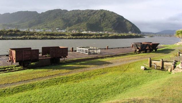 Heritage passenger wharf and restored Q wagons