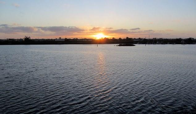 Sun setting on the walk back