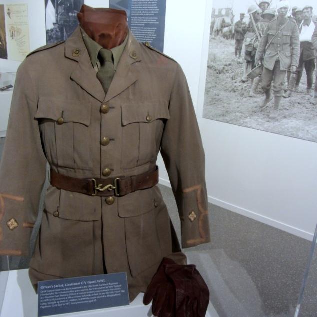Lieutenant C V Grant Jacket, WW I