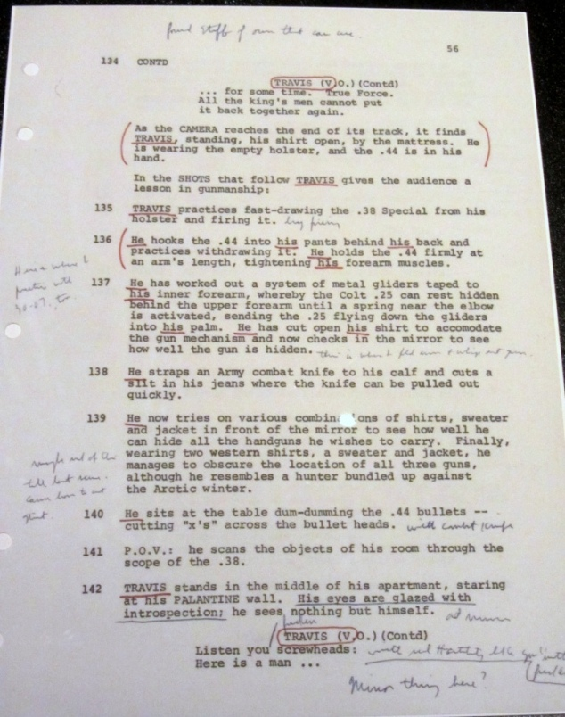 Script from Taxi Driver (1976)