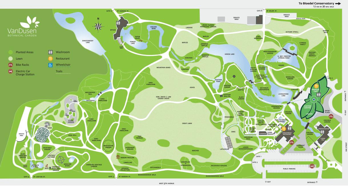Delicieux VanDusenGardenMap. VanDusen Botanical Garden Map